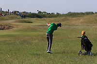Tiarnan McLarnon (Masereene) on the 16th during Round 4 of the East of Ireland Amateur Open Championship 2018 at Co. Louth Golf Club, Baltray, Co. Louth on Monday 4th June 2018.<br /> Picture:  Thos Caffrey / Golffile<br /> <br /> All photo usage must carry mandatory copyright credit (&copy; Golffile | Thos Caffrey)