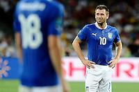 KIEV, UCRANIA, 01 JULHO 2012 - EU2012 FINAL - ESPANHA X ITALIA - Antonio Cassono jogador da Italia durante partida contra a Espanha na decisão da Euro 2012 entre Espanha e Itália, em Kiev, Ucrânia, neste domingo (01).  (FOTO: PIXATHLON / BRAZIL PHOTO PRESS).