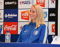 20190819 – GENT, BELGIUM : Gent's Nina Stapelfeldt pictured during a pre-season press conference presenting the new players  , new staff and new methods for the next season 2019-2020 for the AA Gent Ladies in the Belgian top division – The Superleague -  , Monday 19 th August 2019 at the Ghelamco Stadium in GENT  , Belgium  .  PHOTO SPORTPIX.BE | DAVID CATRY