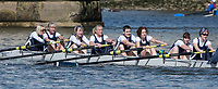 Mortlake/Chiswick, GREATER LONDON. United Kingdom. Belfast Boat Club (IE) W.MasE.8+, competing at the 2017 Vesta Veterans Head of the River Race, The Championship Course, Putney to Mortlake on the River Thames.<br /> <br /> <br /> Sunday  26/03/2017<br /> <br /> [Mandatory Credit; Peter SPURRIER/Intersport Images]