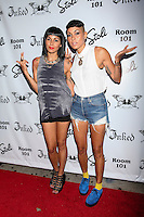 Natalie Albino and Nicole Albino of Nina Sky attend Inked Magazine release party celebrating August issue, New York. July 17, 2012 &copy; Diego Corredor/MediaPunch Inc. /NortePhoto.com<br />