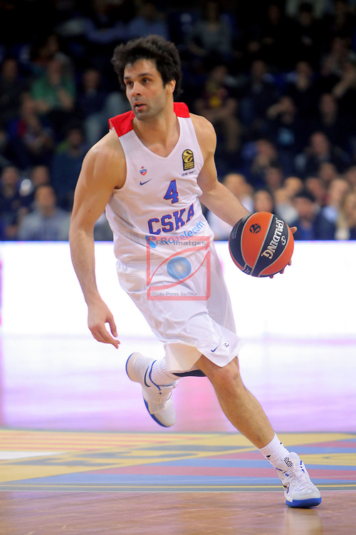 Turkish Airlines Euroleague 2016/2017.<br /> Regular Season - Round 24.<br /> FC Barcelona Lassa vs CSKA Moscow: 61-85.<br /> Milos Teodosic.