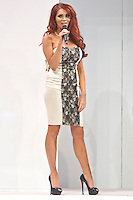 8th December 2012: TOWIE star and fashion designer Amy Childs introduces her new range of clothing which is modelled my Britain's Next Top Model season 8 finalists at Clothes Show Live 2012 at the NEC, Birmingham, UK