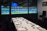 A general view of Twickenham Stadium from the hospitality boxes. The Clash, Aviva Premiership match, between Bath Rugby and Leicester Tigers on April 7, 2018 at Twickenham Stadium in London, England. Photo by: Matt Impey / Wired Photos for Onside Images
