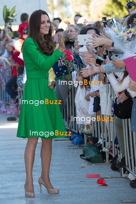 KATE, DUCHESS OF CAMBRIDGE AND PRINCE WILLIAM <br /> visit the National Portrait Gallery in Canberra, Australia where they met with several portrait sitters and viewed artworks.<br /> Canberra, Australia, 24.04.2014
