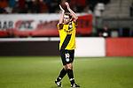 Nederland, Alkmaar, 5 maart 2009..KNVB Beker.Seizoen 2008-2009.AZ-NAC (1-2).Anthony Lurling van NAC bedankt de supporters