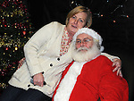 Paula Donaghy pictured with Santa at the Moneymore christmas disco. Photo: Colin Bell/pressphotos.ie