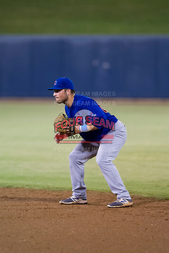 AZL Cubs second baseman Cam Balego (82) on defense against the AZL Brewers on August 24, 2017 at Maryvale Baseball Park in Phoenix, Arizona. AZL Cubs defeated the AZL Brewers 9-1. (Zachary Lucy/Four Seam Images)