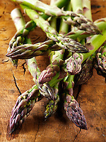 fresh asparagus spears.