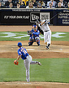 Daisuke Matsuzaka (Mets), Derek Jeter (Yankees),<br /> MAY 13, 2014 - MLB :<br /> Daisuke Matsuzaka of the New York Mets gets Derek Jeter of the New York Yankees to strike out swinging in the sixth inning during the Major League Baseball game at Yankee Stadium in Bronx, New York, United States. (Photo by AFLO)