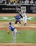 Daisuke Matsuzaka (Mets), Derek Jeter (Yankees),<br /> MAY 13, 2014 - MLB :<br /> Daisuke Matsuzaka of the New York Mets gets Derek Jeter of the New York Yankees to strike out swinging in the sixth inning during the Major League Baseball game at Yankee Stadium in Bronx, New York, United States. (Photo by AFLO)