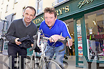 A CHALLENGE: Tommy Sheehy from Ballyroe pictured with Brian Henneberry, is currently fundraising for Enable Ireland to take part in a challenging cycle which will see him cycle 540km over four days from Paris to Geneva...