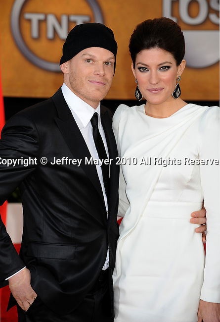 LOS ANGELES, CA. - January 23: Michael C. Hall and Jennifer Carpenter arrive at the 16th Annual Screen Actors Guild Awards held at The Shrine Auditorium on January 23, 2010 in Los Angeles, California.