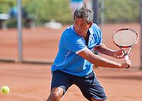 August 24, 2014, Netherlands, Amstelveen, De Kegel, National Veterans Championships, Mike Simon (NED)<br /> Photo: Tennisimages/Henk Koster