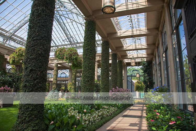 Built in 1919, the Conservatory of Longwood Gardens in Kennett Square, Pennsylvania spans 1/2 mile and houses 20 indoor gardens and 5,500 types of plants.  Today, Longwood Gardens complements its horticultural displays with more than 400 musical and theatre performances, and other events, per year.
