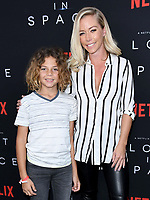09 April 2018 - Hollywood, California - Hank Baskett IV, Kendra Wilkinson. NETFLIX's &quot;Lost in Space&quot; Season 1 Premiere Event held at Arclight Hollywood Cinerama Dome. <br /> CAP/ADM/BT<br /> &copy;BT/ADM/Capital Pictures