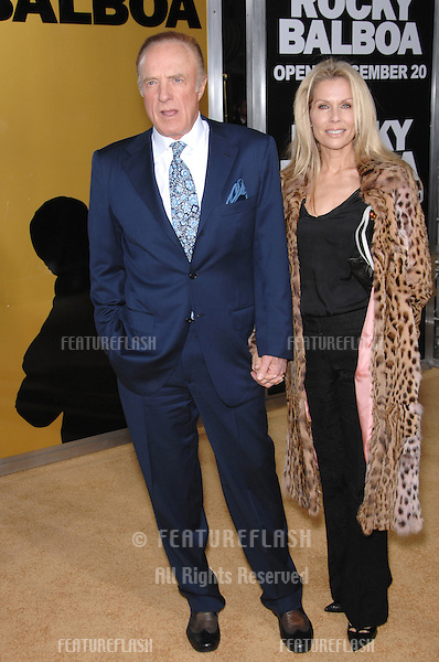 "JAMES CAAN & wife at the world premiere of ""Rocky Balboa"" at the Grauman's Chinese Theatre, Hollywood..December 13, 2006  Los Angeles, CA.Picture: Paul Smith / Featureflash"
