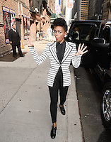 NEW YORK, NY - JUNE  11, 2014: Singer Janelle Monae visits the Late Show With David Letterman on June 11, 2014   © HP/Starlitepics.