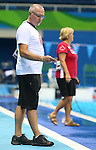 Rio de Janeiro-6/9/2016-Canadian para swimming  head coach Craig McCord  at the Olympic Aquatics Stadium prior to the Paralympic Games in Rio. Photo Scott Grant/Canadian Paralympic Committee