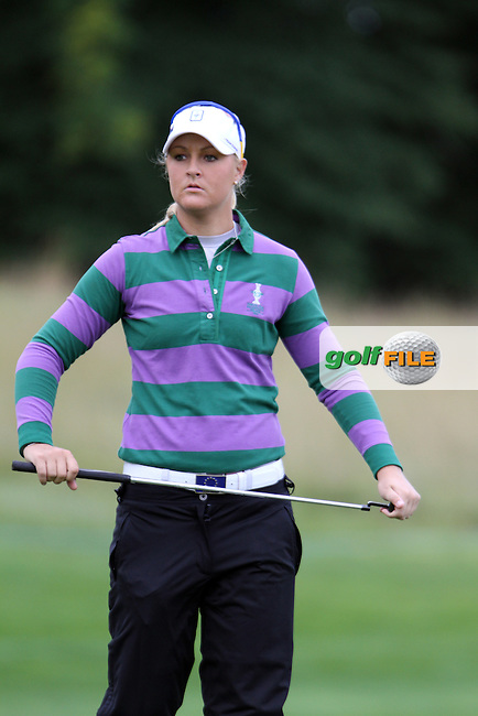 Anna Nordqvist (SWE) on Thursday, the third practice day at the 2011 Solheim Cup at Killeen Castle, Co. Meath, Ireland...Photo Golffile/Jenny Matthews.(Photo credit should read Jenny Matthews www.golffile.ie)....This Picture has been sent you under the conditions enclosed by:.Newsfile Ltd..The Studio,.Millmount Abbey,.Drogheda,.Co Meath..Ireland..Tel: +353(0)41-9871240.Fax: +353(0)41-9871260.GSM: +353(0)86-2500958.email: pictures@newsfile.ie.www.newsfile.ie.