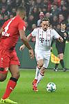 12.01.2018, BayArena, Leverkusen , GER, 1.FBL., Bayer 04 Leverkusen vs. FC Bayern M&uuml;nchen<br /> im Bild / picture shows: <br /> Franck Ribery (Bayern Muenchen #7),  Einzelaktion, Ganzk&ouml;rper / Ganzkoerper,  <br /> <br /> <br /> Foto &copy; nordphoto / Meuter