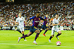 Nelson Semedo of FC Barcelona(C) in action against Jose Luis Gaya of Valencia CF (R) during their La Liga 2018-19 match between Valencia CF and FC Barcelona at Estadio de Mestalla on October 07 2018 in Valencia, Spain. Photo by Maria Jose Segovia Carmona / Power Sport Images