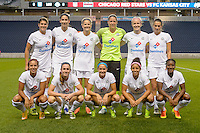 Chicago, IL - Wednesday Sept. 07, 2016: FC Kansas City Starting XI during a regular season National Women's Soccer League (NWSL) match between the Chicago Red Stars and FC Kansas City at Toyota Park.