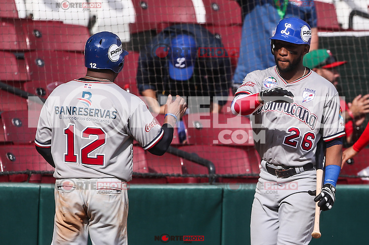 Anderson Hernandez de Dominicana celebra carrera en el Dogout, durante el partido de beisbol de la Serie del Caribe entre Republica Dominicana vs Puerto Rico en el Nuevo Estadio de los Tomateros en Culiacan, Mexico, Sabado 4 Feb 2017. Foto: Luis Gutierrez/NortePhoto.com<br /> <br /> Actions, during the Caribbean Series baseball match between Dominican Republic vs Puerto Rico at the New Tomateros Stadium in Culiacan, Mexico, Saturday 4 Feb 2017. Photo: Luis Gutierrez / NortePhoto.com