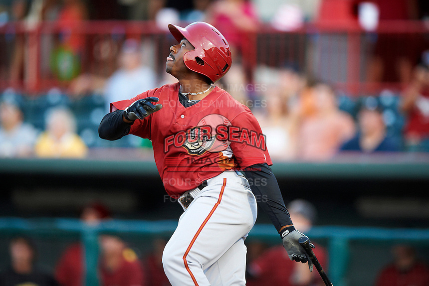 Altoona Curve outfielder Quincy Latimore #22 during an Eastern League game against the Erie Seawolves at Jerry Uht Park on August 31, 2012 in Erie, Pennsylvania.  Altoona defeated Erie 4-3.  (Mike Janes/Four Seam Images)