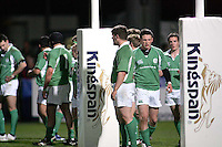 The Irish players re-group after Australia score during the Division A U19 World Championship clash against Australia at Ravenhill.