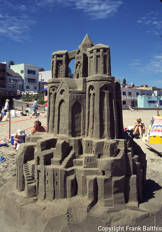Sand castle contest in Capitola