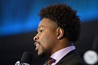 BROOKLYN, NY - DECEMBER 20: Professional boxer Shawn Porter and boxing commentator attends the Fox Sports and Premier Boxing Champions press conference for the December 22 Fox PBC Fight Night at the Barclay Center on December 20, 2018 in Brooklyn, New York. (Photo by Anthony Behar/Fox Sports/PictureGroup)