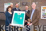 Past pupil Donal Spring Presented the first Jersey he wore as a  Irish  Rugby International  to the Principle of Listellick National School Annette Dineen to celebrate their 150 anniversary on Friday.Pictured front l-r Annette Dineen, Daniel Spring, Donal Spring Back l-r Micheal O'Cinneide, past Principle, Arthur J Spring, TD, and Cllr. Graham Spring