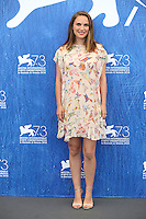 VENICE, ITALY - SEPTEMBER 08: Natalie Portman attends a photocall for 'Planetarium' during the 73rd Venice Film Festival at Palazzo del Casino on September 8, 2016 in Venice, Italy.<br /> CAP/GOL<br /> &copy;GOL/Capital Pictures /MediaPunch ***NORTH AND SOUTH AMERICAS ONLY***