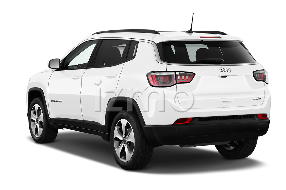 Car pictures of rear three quarter view of 2017 JEEP Compass Latitude 5 Door SUV Angular Rear