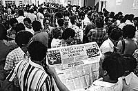 Campanha salarial dos metalurgicos. São Paulo. 1979. Foto de Juca Martins.