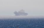 Container Ship, Strait of Juan de Fuca, Washington State, Pacific Ocean,