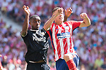 Atletico de Madrid's Lucas Hernanez and Sevilla's Lionel Carole during La Liga match between Atletico de Madrid and Sevilla FC at Wanda Metropolitano Stadium in Madrid, Spain September 23, 2017. (ALTERPHOTOS/Borja B.Hojas)