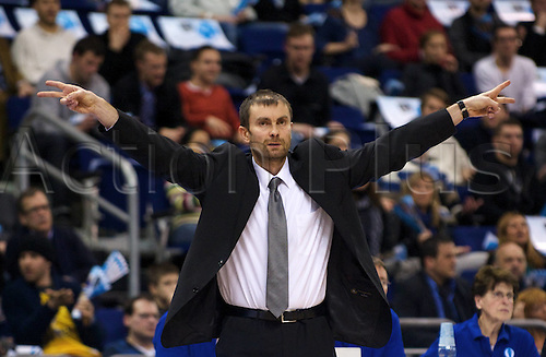 02 02 2010 Basketball Eurocup Berlin ALBA Berlin Joventut Badalona Luka Pavicevic ALBA Berlin team manager Berlin men Basketball EC 3 Eurocup Euro Cup 2010