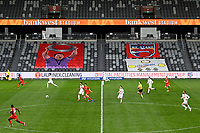 30th July 2020; Bankwest Stadium, Parramatta, New South Wales, Australia; A League Football, Adelaide United versus Perth Glory; a general view of play at the empty Bankwest stadium due to the covid-19 pandemic
