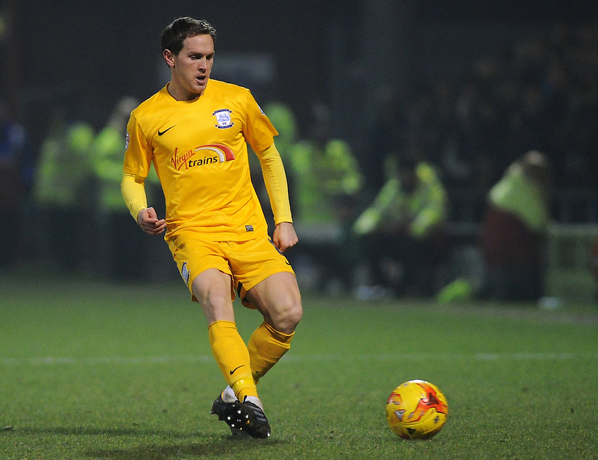Preston North End's Neil Kilkenny in action during todays match  <br /> <br /> Photographer Kevin Barnes/CameraSport<br /> <br /> Football - The Football League Sky Bet League One - Crewe Alexandra v Preston North End - Sunday 28th December 2014 - Alexandra Stadium - Crewe<br /> <br /> &copy; CameraSport - 43 Linden Ave. Countesthorpe. Leicester. England. LE8 5PG - Tel: +44 (0) 116 277 4147 - admin@camerasport.com - www.camerasport.com