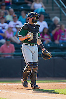 Augusta GreenJackets catcher Tyler Ross (26) on defense against the Hickory Crawdads at L.P. Frans Stadium on May 11, 2014 in Hickory, North Carolina.  The GreenJackets defeated the Crawdads 9-4.  (Brian Westerholt/Four Seam Images)