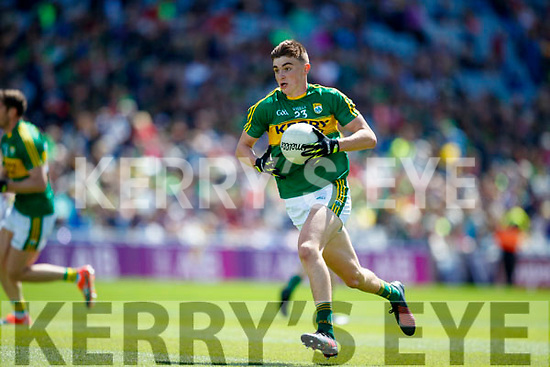 Sean O'Shea Kerry in action against  Galway in the All Ireland Senior Football Quarter Final at Croke Park on Sunday.