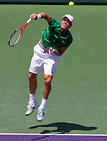 Tomas BERDYCH (CZE) against Andy RODDICK (USA) in the final of the men's finals. Andy Roddick beat Tomas Berdych 7-5 6-4..International Tennis - 2010 ATP World Tour - Sony Ericsson Open - Crandon Park Tennis Center - Key Biscayne - Miami - Florida - USA - Sun 4 Apr 2010..© Frey - Amn Images, Level 1, Barry House, 20-22 Worple Road, London, SW19 4DH, UK .Tel - +44 20 8947 0100.Fax -+44 20 8947 0117
