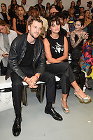 Pixie Geldof and boyfriend, George Barnett<br /> at the Ashley Williams catwalk show as part of London Fashion Week SS17, Brewer Street Carpark, Soho London<br /> <br /> <br /> &copy;Ash Knotek  D3155  16/09/2016