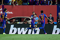 Leo Messi of FC Barcelona celebrates after scoring a goal during the match of  Copa del Rey (King's Cup) Final between Deportivo Alaves and FC Barcelona at Vicente Calderon Stadium in Madrid, May 27, 2017. Spain.. (ALTERPHOTOS/Rodrigo Jimenez) /NortePhoto.com