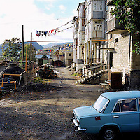 Street of Chouchi, the former historical capital of Karabagh, before Stepanakert. Twice devastated in the 20th century by the Azeri assaults, Chouchi is today on a rebuilt process like the all country.