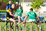 In Action Stacks Greg Horan gets away from St. Kierans James Walsh at the Garveys Supervalu Senior County Football Championship - Round 1 Austin Stacks V St. Kierans at Connolly Park on Saturday