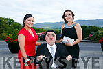 Enjoying the Killarney secondary schools Debs at Ballyroe Heights Hotel on Monday were Abigail Graham, Christian Maze and Sarah Finnan