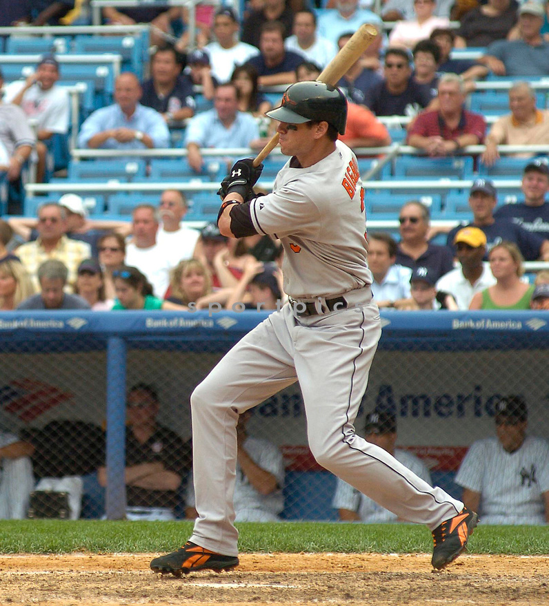 Larry Bigbie, of the Baltimore Orioles in action against the New York Yankees on July 5, 2005...Yankees win 12-3....Chris Bernacchi / SportPics